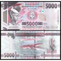 Billete Guinea 5000 Francs 2015 - Numisfila