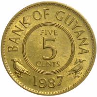 Moneda Guyana 5 Cents de 1987 - Numisfila