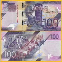 Billete Kenia 100 Shillings 2019 - Numisfila