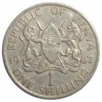 Moneda Kenia 1 Shilling 1966-1968 - Numisfila