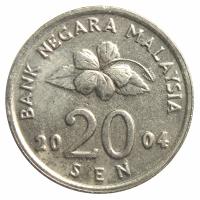 Moneda Malasia 20 Sen 1992 - 2006 - Numisfila