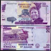 Billete Malawi 20 Kwacha 2017 - Numisfila