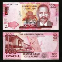 Billete Malawi 100 Kwacha 2016 - Numisfila