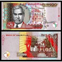 Billete Mauricio 100 Rupees 2012 - Numisfila
