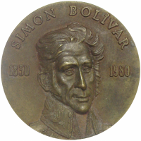 Medalla 1980 150 Años Muerte Libertador Simón Bolívar - Numisfila