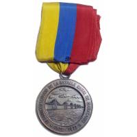 Medalla 150 Años Batalla Naval Maracaibo 1973 - Numisfila