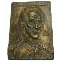 Medalla Placa 150 Años Muerte Simon Bolivar El Libertador - Numisfila