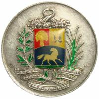 Medalla Escudo Venezuela Plata Pura Esmaltada - Numisfila