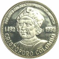 Medalla Plata 500 Años Descubrimiento America Cristobal Colon - Numisfila