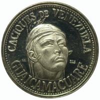 Medalla Plata Guaicamacuare Caciques Venezuela Italcambio - Numisfila