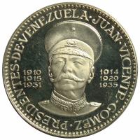 Medalla de los Presidentes Venezuela: Juan Vicente Gomez - Numisfila