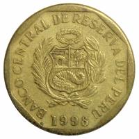 Moneda Peru 10 Centimos 1997-1998 - Numisfila