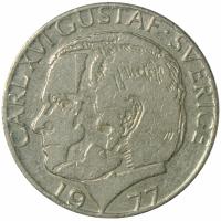 Moneda Suecia 1 Krona 1977-1979 - Numisfila