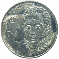 Moneda Hungria 100 Forint 1983 Simon Bolivar - Numisfila