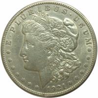 Moneda Plata E.E.U.U. Dolar Morgan 1921 S San Francisco - Numisfila