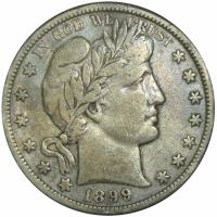 Moneda E.E.U.U. ½ Dólar Barber Quarter 1899 S - Numisfila