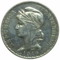 Moneda Plata Portugal 1 Escudo 1916 - Numisfila