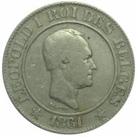 Moneda Belgica 20 Centavos 1861 Leopoldo I - Numisfila