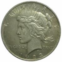 "Moneda Plata 1 ""Peace"" Dolar 1923 Libertad - Numisfila"