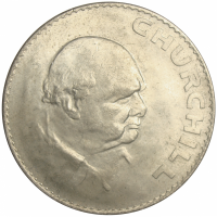Moneda Gran Bretaña 1 Crown 1965 W Churchill - Numisfila