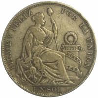 Peru Moneda Plata Un Sol de 1896 - Numisfila