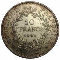 Moneda de Plata Francia 10 Francos 1966 - Numisfila