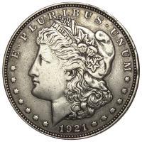 Moneda Plata E.E.U.U. Dolar Morgan 1921 Filadelfia - Numisfila