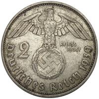 Moneda Plata Alemania 5 Reichsmark 1939 3er Reich - Numisfila
