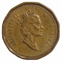 Moneda Canada 1 Centavo 1990-96 Elizabeth II - Numisfila