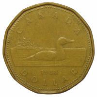 Moneda Canadá 1 Dolar 1987-89  Somorgujo - Numisfila