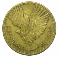Moneda Chile 10 Centesimos 1960-70 Condor - Numisfila