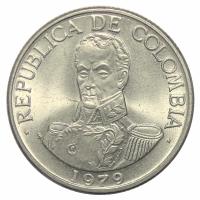 Moneda Colombia 1 Peso 1976-1989 - Numisfila