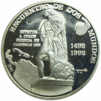 Moneda Cuba 10 Pesos 1991 Encuentro Dos Mundos - Numisfila