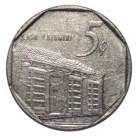 Moneda Cuba 5 Centavos 1994 VF - Numisfila
