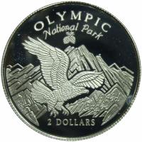 Moneda Islas Cook 2 Dólares 1996 Águila Calva - Numisfila