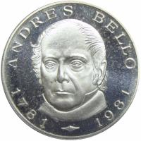 Moneda 100 Bolívares 1981 Andrés Bello Bicentenario Nacimiento - Numisfila
