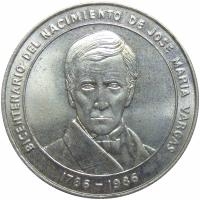 Moneda José María Vargas 100 Bolívares 1986 Conmemorativa - Numisfila