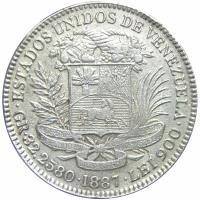 Reproducción en Plata Moneda 100 Bolívares Pachano 1887 - Numisfila