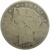 Escasa Moneda 50 Centavos - 5 Reales 1858 Libertad - Numisfila