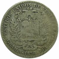 Venezuela Moneda 20 Centavos 1876 - Bolivar - Numisfila