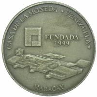 Moneda Plata 6000 Bolivares 2001 Maracay - Numisfila