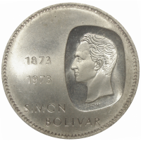 Moneda 10 Bolivares Doblon 1973 Canto Al Revés - Numisfila