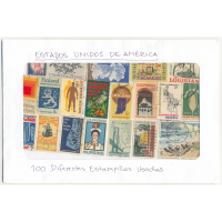 Estados Unidos America 100 Estampillas diferentes usadas - Numisfila