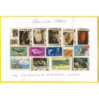 Peces Fauna 40 Estampillas diferentes usadas - Numisfila