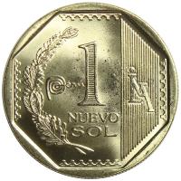 Moneda Peru 1 Nuevo Sol de 2013 - Numisfila