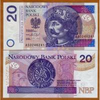 Billete Polonia 20 Zlotych 2017 Miecislao I - Numisfila