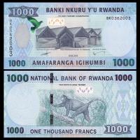 Billete Ruanda 1000 Francs 2015 Mono - Numisfila