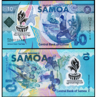Billete Plastico Samoa Juegos Pacífico 10 Tala 2019 - Numisfila