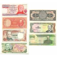 Set de 7 Billetes Mundiales de América - Numisfila