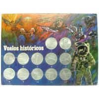 Set 12 Medallas Serie Vuelos Históricos Shell - Numisfila